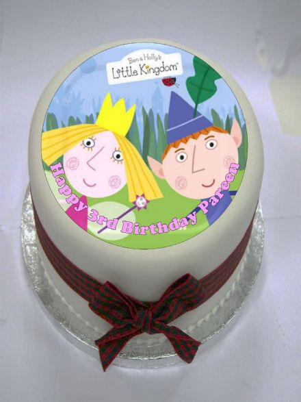 Ben & Holly Edible Cake Topper (option 1)